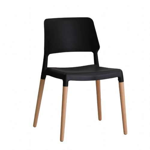 AXE Chairs (Black)( Pack of 2 )